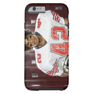 Futbolista de la High School secundaria Funda De iPhone 6 Tough