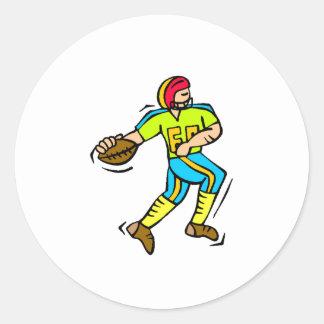 Futbolista de los niños pegatinas redondas