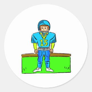 Futbolista de los niños etiquetas redondas