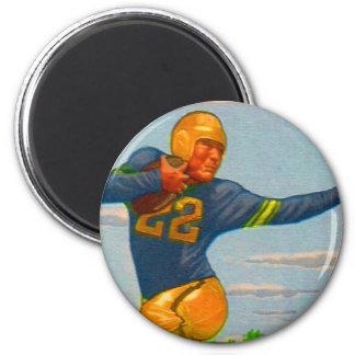 Futbolista del vintage 40s del kitsch 'Arm tieso Imán Redondo 5 Cm