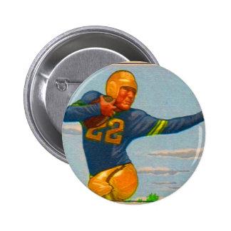 Futbolista del vintage 40s del kitsch 'Arm tieso Pins