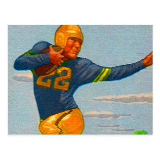 Futbolista del vintage 40s del kitsch 'Arm tieso Postales