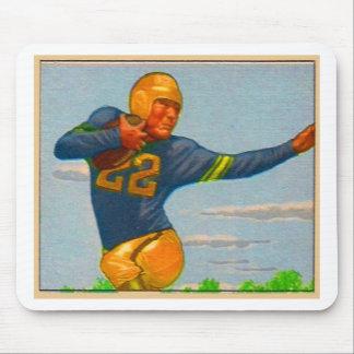 Futbolista del vintage 40s del kitsch 'Arm tieso Alfombrilla De Raton