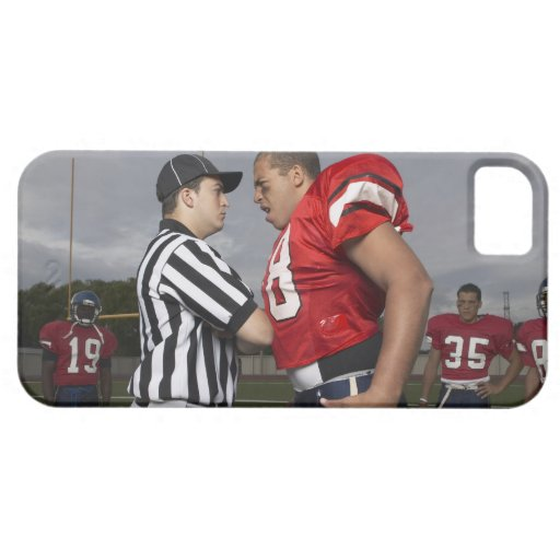 Futbolista que discute con el árbitro iPhone 5 protector