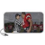 Futbolista que discute con el árbitro iPod altavoz