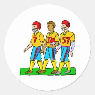 Futbolistas de la High School secundaria Etiquetas Redondas