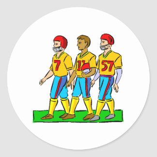 Futbolistas de la High School secundaria Pegatina Redonda