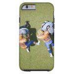 Futbolistas que juegan al fútbol 2 funda de iPhone 6 tough