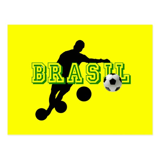 Futebol - curva tiene gusto de un brasilen@o tarjeta postal