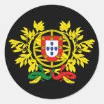 Futebol del fútbol de Brasão de armas de Portugal Pegatinas