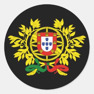 Futebol del fútbol de Brasão de armas de Portugal Pegatina Redonda