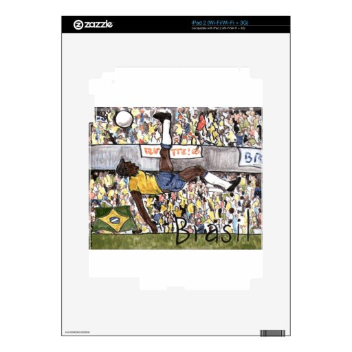Futebol hace el Brasil Calcomanías Para iPad 2