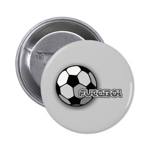 Futebol is Soccer and Soccer is Life 2 Inch Round Button