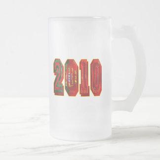 Futebol Português 2010 Frosted Glass Beer Mug