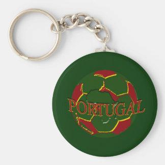 Futebol Português - Bola nos Cores Portugueses Keychains