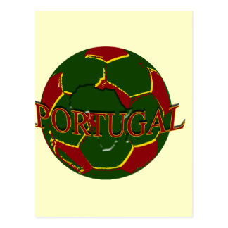 Futebol Português - Bola nos Cores Portugueses Postcard