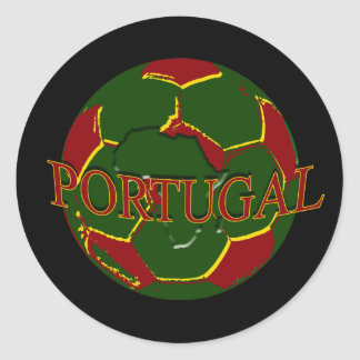 Futebol Português - corazones Portugueses de no. Pegatina Redonda