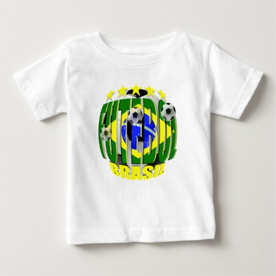 Futebol round brazil soccer ball 5 star gifts baby T-Shirt