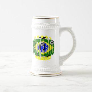 Futebol round brazil soccer ball 5 star gifts beer stein
