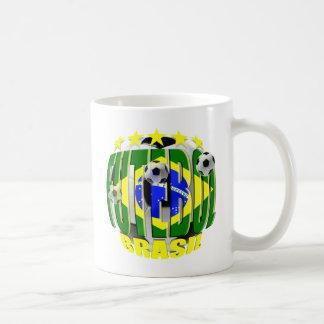 Futebol round brazil soccer ball 5 star gifts coffee mug