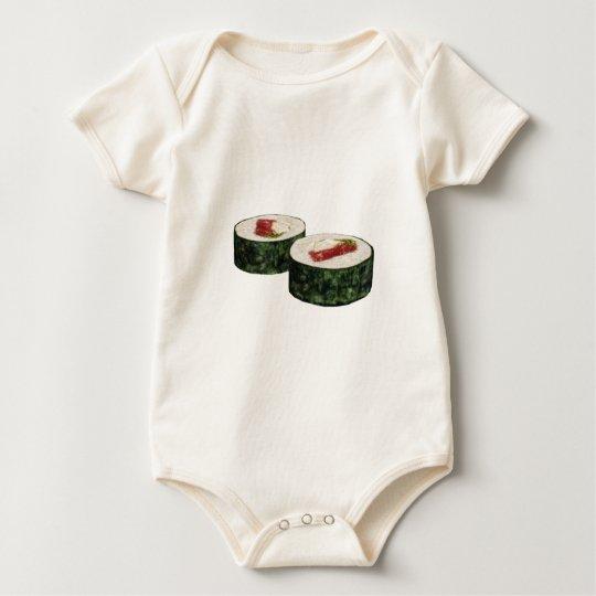 Futomaki Maguro Sushi Baby Bodysuit