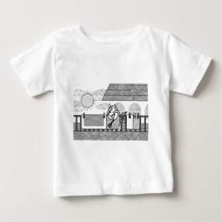Futon drying (Hang out futon) MONOCHROME Baby T-Shirt