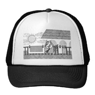 Futon drying (Hang out futon) MONOCHROME Trucker Hat