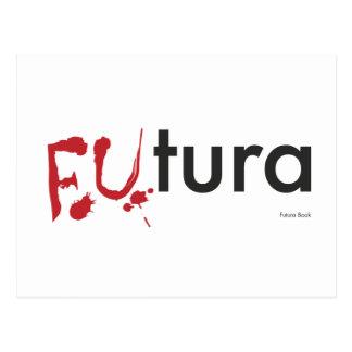Futura - Blood dripping Font - Happy Halloween Postcard