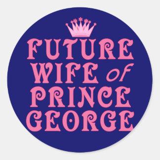 Futura esposa de príncipe George Pegatina Redonda