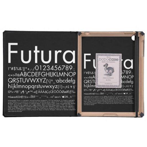 Futura Font iPad Case