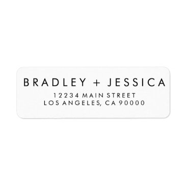 HumbleandStone Futura Modern Wedding Labels