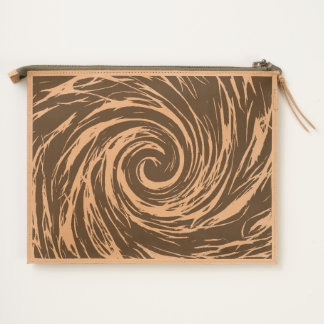 Future Abstract -Space - Leather Travel Pouch