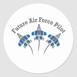 Future Air Force Pilot Classic Round Sticker