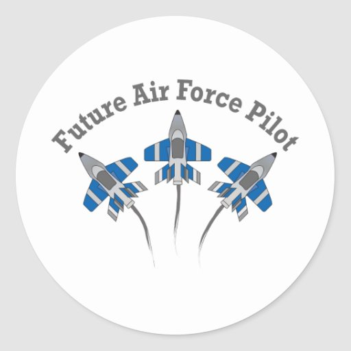 Future Air Force Pilot Round Sticker