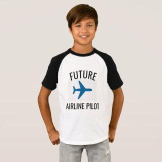 Future Airline Pilot Kids Tshirt