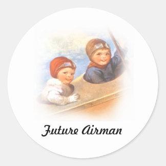 Future Airman Classic Round Sticker