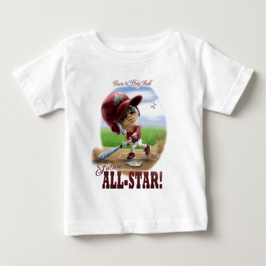 Future All-Star Baseball Red Baby T-Shirt