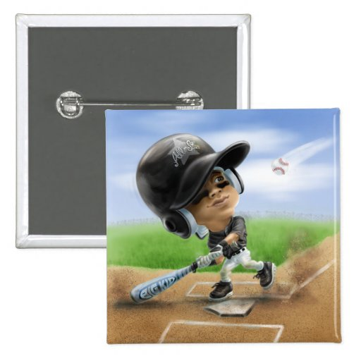 Future All-Star Black Helmet 2 Inch Square Button