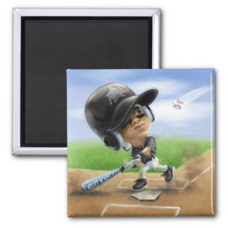 Future All-Star Black Helmet 2 Inch Square Magnet