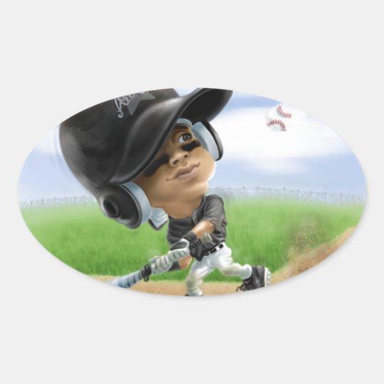 Future All-Star Black Helmet Oval Sticker