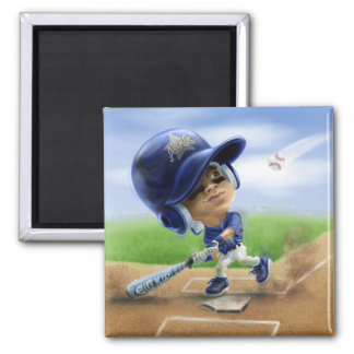 Future All-Star Blue 2 Inch Square Magnet