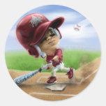 Future All-Star Red Classic Round Sticker