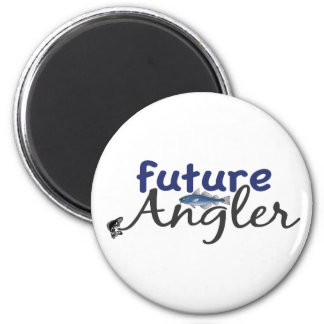 Future Angler (Fishing) 2 Inch Round Magnet