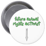 future animal rights activist pinback buttons