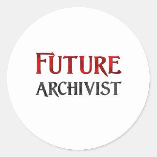 Future Archivist Classic Round Sticker