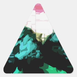 Future Art Triangle Sticker