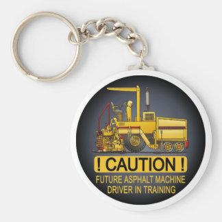 Future Asphalt Paving Machine Driver Key Chain