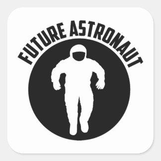 Future Astronaut Square Sticker