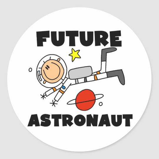 Future Astronaut T-shirts and Gifts Classic Round Sticker