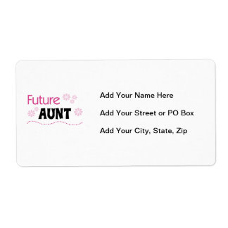 Future Aunt Black and Pink T-shirts and Gifts Label